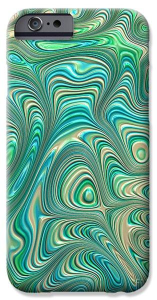 Pastel iPhone Cases - Pastel Folds iPhone Case by John Edwards