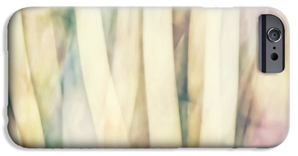 Abstracts From Nature iPhone Cases - Pastel Forest Wild Grasses Photographic Abstract iPhone Case by Natalie Kinnear