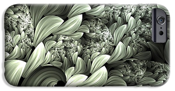 Asymmetrical iPhone Cases - Pastel Garden Abstract iPhone Case by Georgiana Romanovna