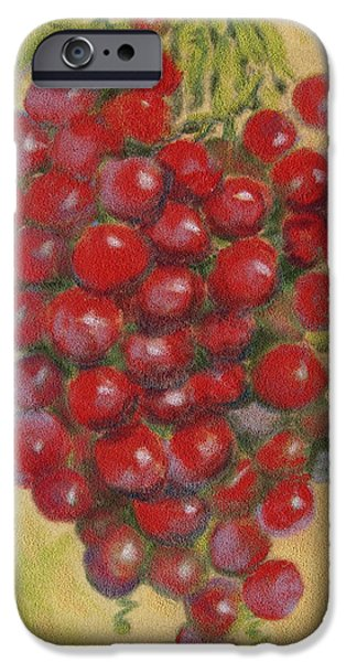 Sell Pastels iPhone Cases - Pastel Grapes iPhone Case by Joseph Hawkins