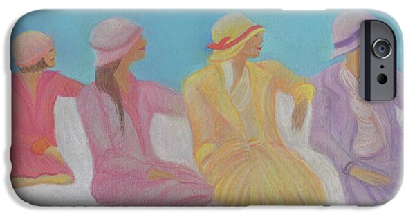 Jrr Pastels iPhone Cases - Pastel Hats by jrr iPhone Case by First Star Art