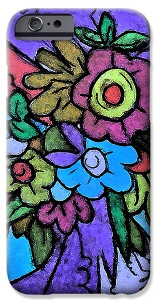 Mixed Media Pastels iPhone Cases - Pastel Joy iPhone Case by Ang Q