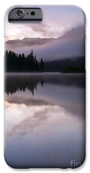 Clear iPhone Cases - Pastel Morning Mist iPhone Case by Mike  Dawson