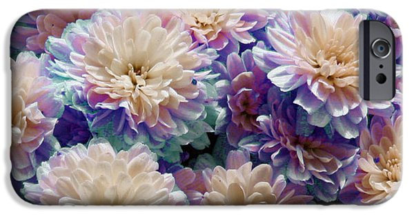 Pastel iPhone Cases - Pastel Mums iPhone Case by Brenda  Spittle