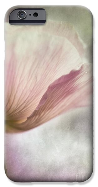 pastel pink poppy iPhone Case by Priska Wettstein