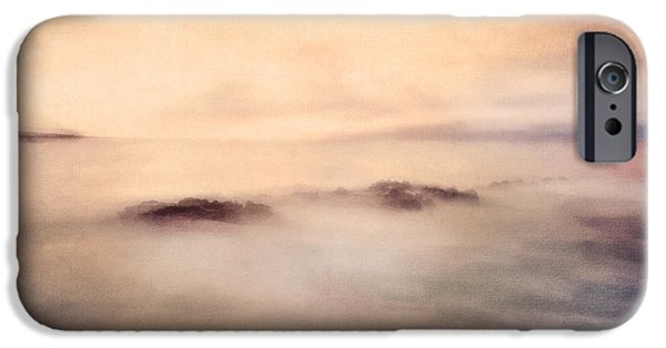 Fog Mist Mixed Media iPhone Cases - Pastel Soft Waters  iPhone Case by Georgiana Romanovna