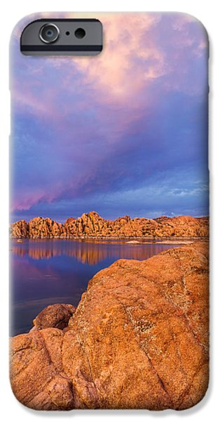 Watson Lake iPhone Cases - Pastel Storm iPhone Case by Tassanee Angiolillo