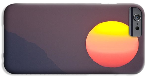 Sunset Framed Prints iPhone Cases - Pastel Sun iPhone Case by Sean Davey