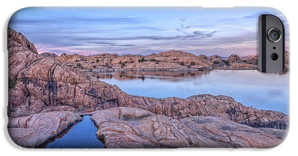 Prescott iPhone Cases - Pastel Sunset in the Dells iPhone Case by Theresa Rose Ditson