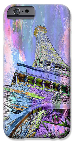 Looking Digital Art iPhone Cases - Pastel Tower iPhone Case by Az Jackson