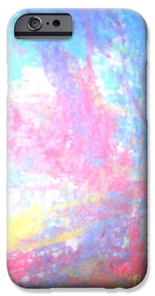 Abstractions Pastels iPhone Cases - Without title iPhone Case by Joanna Maria Hahn-Sujecka