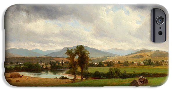 Concept Paintings iPhone Cases - Pastoral Scene iPhone Case by Johnson