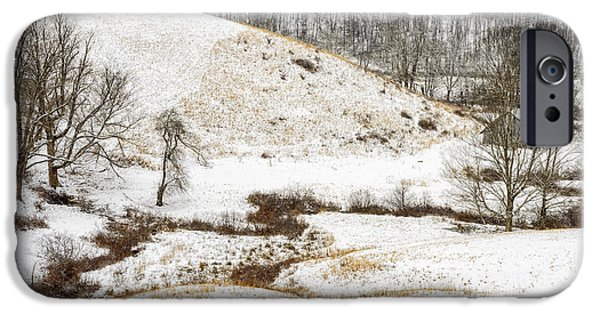 Winter Storm iPhone Cases - Pasture Hills and Snow iPhone Case by Thomas R Fletcher