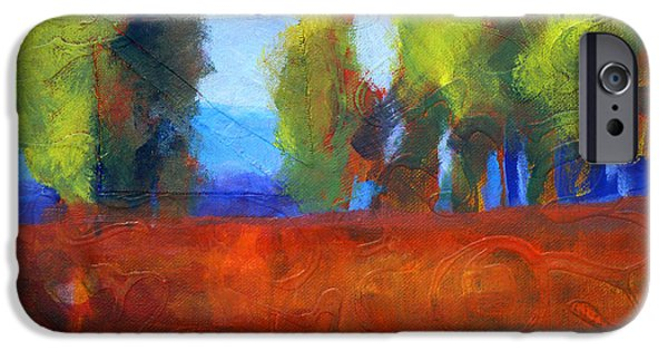 Business Paintings iPhone Cases - Patching the Environment iPhone Case by Nancy Merkle