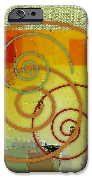 Abstract Digital iPhone Cases - Patchwork II iPhone Case by Ben and Raisa Gertsberg