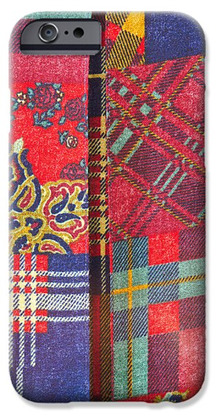 Sheets iPhone Cases - Patchwork sheet iPhone Case by Tom Gowanlock