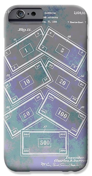 Toy Store iPhone Cases - Patent Art Money iPhone Case by Dan Sproul