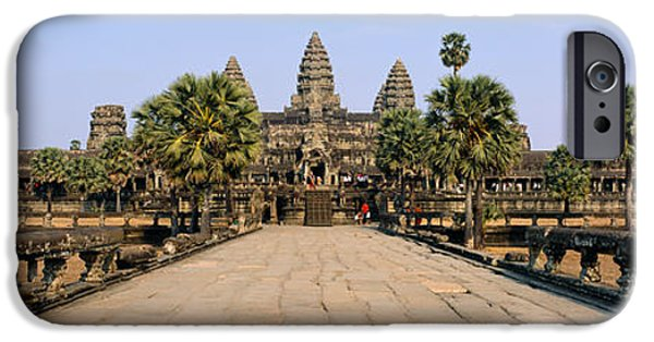 Pathway iPhone Cases - Path Leading Towards An Old Temple iPhone Case by Panoramic Images