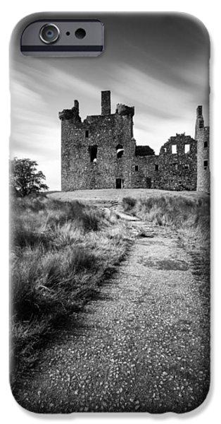 Pathway iPhone Cases - Path to Kilchurn Castle iPhone Case by Dave Bowman