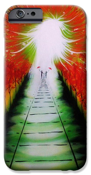Recently Sold -  - Concept Paintings iPhone Cases - Path to Light iPhone Case by Chan Siva