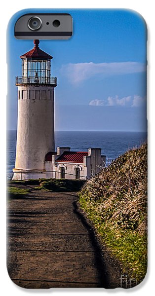 Cape Disappointment iPhone Cases - Path to North Head Lighthouse iPhone Case by Robert Bales