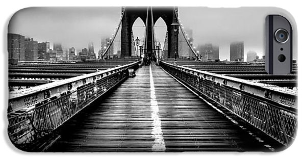 Financial District iPhone Cases - Path To The Big Apple iPhone Case by Az Jackson