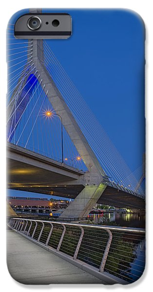 Charles River iPhone Cases - Path To The Leonard P. Zakim Bridge iPhone Case by Susan Candelario