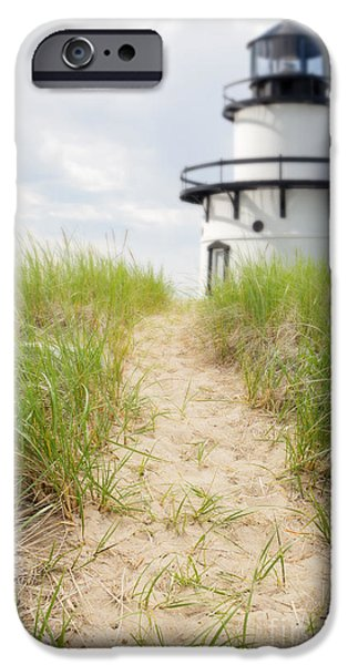 Cape Cod Lighthouses iPhone Cases - Path to the lighthouse iPhone Case by Edward Fielding