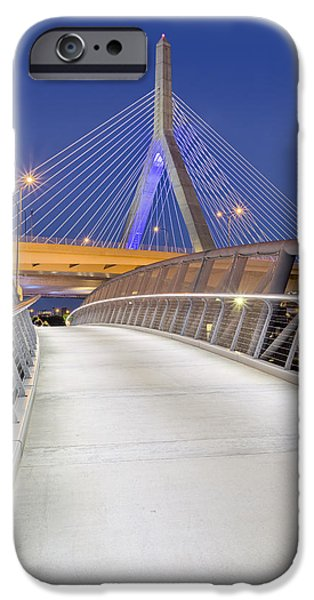 Charles River iPhone Cases - Path To The Zakim Bridge iPhone Case by Susan Candelario