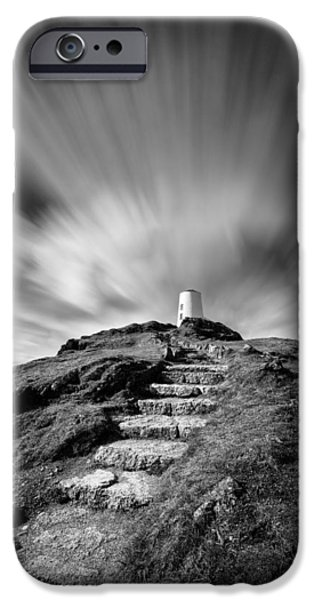 Dave iPhone Cases - Path to Twr Mawr Lighthouse iPhone Case by Dave Bowman