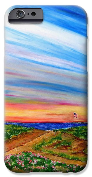 4th July Pastels iPhone Cases - Paths to Independance iPhone Case by Daniel Dubinsky