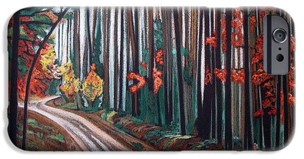 Pathway Pastels iPhone Cases - Pathway Among the Beech Trees iPhone Case by Gergana Valkova