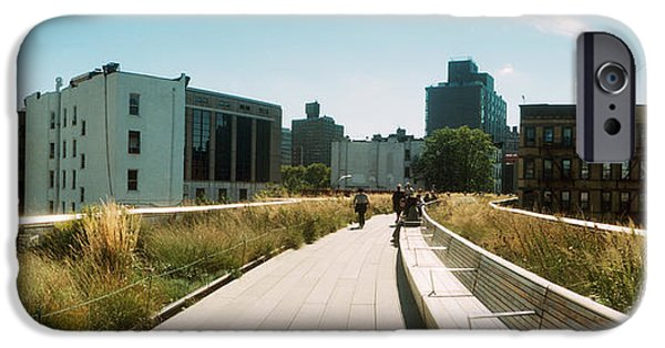 Chelsea iPhone Cases - Pathway, High Line, Chelsea, Manhattan iPhone Case by Panoramic Images