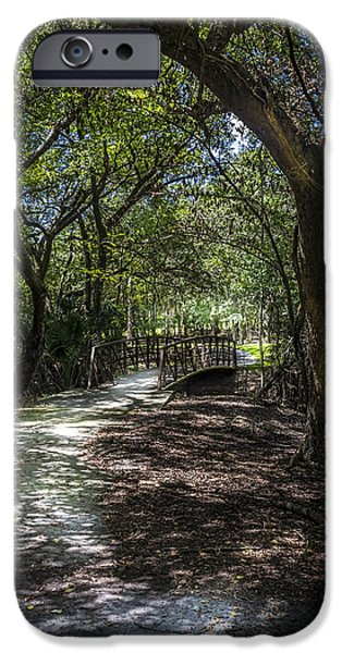 Pathway iPhone Cases - Pathway to the Bridge iPhone Case by Marvin Spates