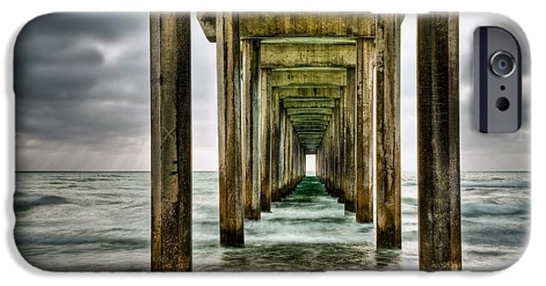 Pier iPhone Cases - Pathway to the Light iPhone Case by Aron Kearney Fine Art Photography