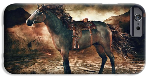 Horse Artist iPhone Cases - Patience Bay Horse iPhone Case by Shanina Conway