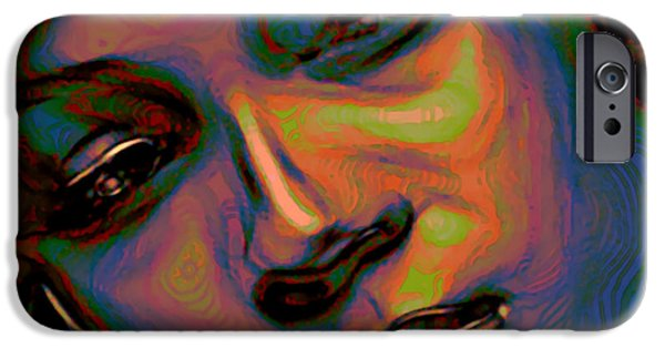 Gray Hair Digital Art iPhone Cases - Patina Reflections iPhone Case by  Fli Art