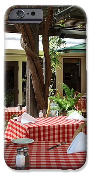 Patio Dining At The Swiss Hotel In Downtown Sonoma California 5D24439 iPhone Case by Wingsdomain Art and Photography