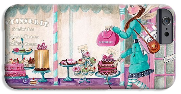 Tea Party iPhone Cases - Patisserie iPhone Case by Caroline Bonne-Muller