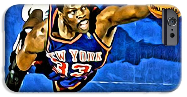 Slam Photographs iPhone Cases - Patrick Ewing iPhone Case by Florian Rodarte