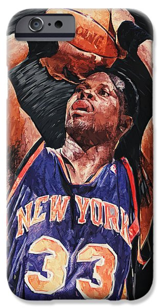 Patrick Ewing iPhone Case by Taylan Soyturk