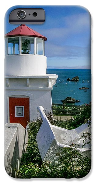 Patrick's Point Lighthouse iPhone Case by Jim DeLillo