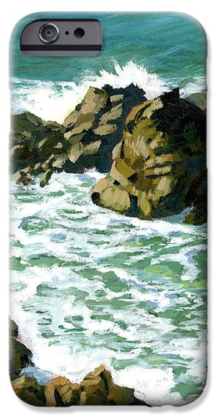 Patricks Point Rocks iPhone Case by Alice Leggett