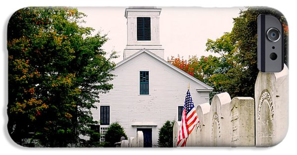 Cemetary iPhone Cases - Patriot at Rest iPhone Case by Craig David Morrison
