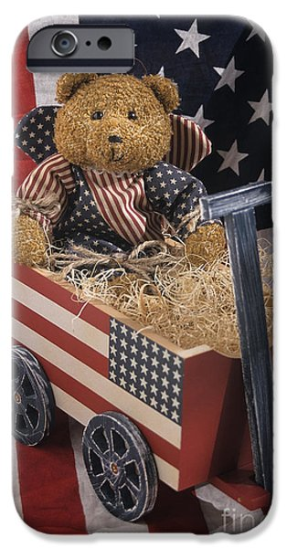 4th July Photographs iPhone Cases - Patriot Bear iPhone Case by Sharon Elliott