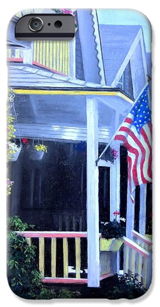 Flag Pastels iPhone Cases - Patriot Dream iPhone Case by Vincent Mancuso