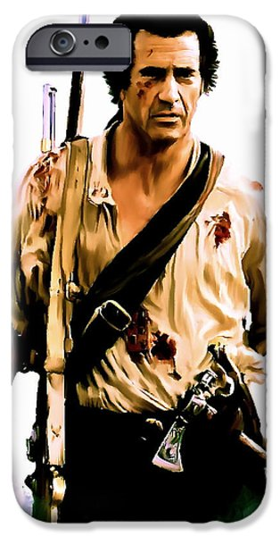 David iPhone Cases - Patriot Mel Gibson iPhone Case by Iconic Images Art Gallery David Pucciarelli