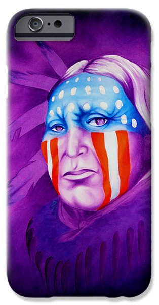Stripe.paint iPhone Cases - Patriot iPhone Case by Robert Martinez
