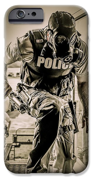 Police iPhone Cases - Patriot3 Second Floor Entry iPhone Case by David Morefield