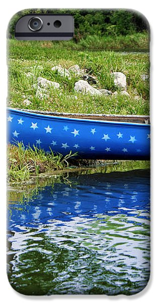 Patriotic Canoe #1 iPhone Case by Nikolyn McDonald